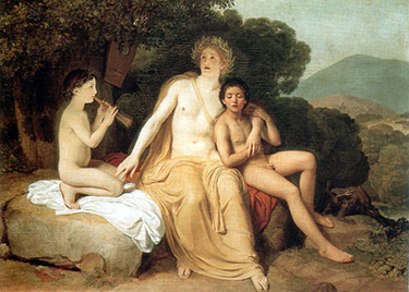 Gay Art - Nude boys and Apollo - Apollo, Hyacinth and Cyparissus Singing and ...