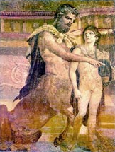 Gay Art - Homoerotic Art of Ancient Rome -Pompeiian fresco of Achilles and ...