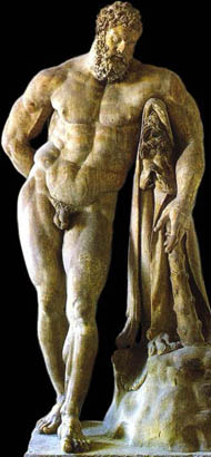 Hercules - Roman copy in marble after a Greek bronze by Lyssipus.